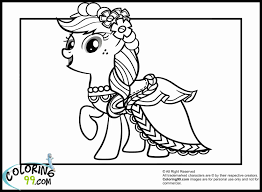 My Little Pony Coloring Pages Princess Cadence Wedding 396306 In
