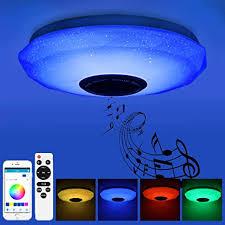 prenine 36w led musik deckenleuchte dimmbar mit bluetooth lautsprecher 3400lm rgb farbwechsel musikwiedergabe led deckenle le für