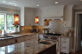 Amazing Kitchen Center Islands With Sinks And Decorative Pendant Light Fixtures Also Recessed Panel Drawer Front