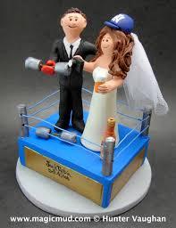 Wwe Cake Decorations Uk by Wwe Wrestling Ring Wedding Cake Topper Custom Made Wrestlers