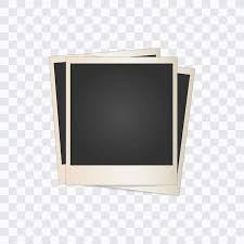 Three Blank Photo Frames On A Transparent Background Vector Illustration Stock