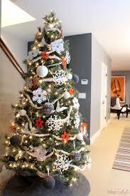 Orange Gray And White Modern Christmas Tree