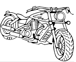 Motorcycle Coloring Pages Vehicle