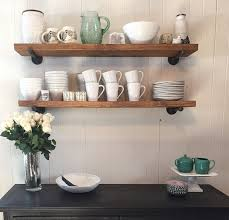 Industrial 8 Deep Floating Shelf With Pipe Brackets
