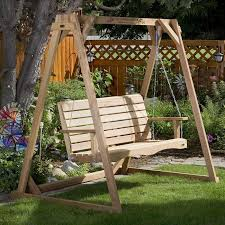 Buy the All Cedar A frame For Porch Swing Stand Support line