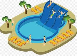 Water Park Swimming Pool Illustration