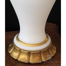 Marbro Lamp Company Los Angeles by A Large Scaled And Shapely American 1960 U0027s White Frosted Glass