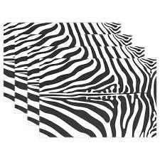 Amazoncom WOZO Animal Skin Zebra Print Placemat Table Mat 12