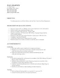 Resume Template Wordpress Sample Police Officer Law Enforcement Examples Samples Unique Ex