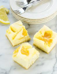 Pumpkin Swirl Cheesecake Bars by Lemon Cheesecake Bars Garnish With Lemon