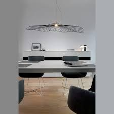 kunstvolle led pendelleuchte in netzform oval mit einem durchmesser 115 cm