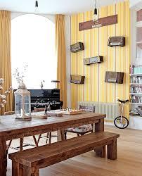moderne tapetenideen für das esszimmer moderne gelbe