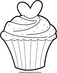 Cupcake clipart black n white 4