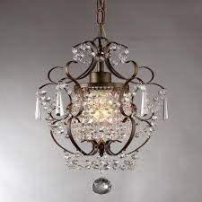 Mini Chandelier Over Bathtub by Null Rosalie 11 In Antique Bronze Indoor Crystal Chandelier