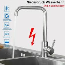 niederdruck küche ausziehbare spültischarmatur wasserhahn