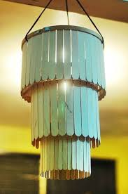 Popsicle Stick Chandelier Designs