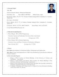 Profile Title In Resume April Onthemarch Co