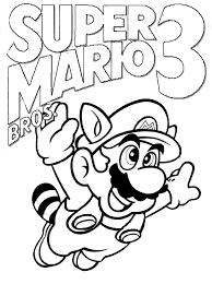 Super Mario Bros 3 Coloring Pages