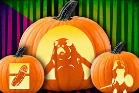 Walking Dead Pumpkin Designs by Carve Yourself A Pop Culture Pumpkin Pickle Rick And Porg And