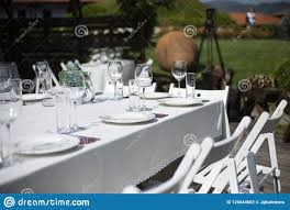 A Table With White Clothe Glasses And Chairs Stock Photo ... Supply Yichun Hotel Banquet Table And Chair Restaurant Round Wedding Reception Dinner Setting With Flower 2017 New Design Wedding Ding Stainless Steel Aaa Rents Event Services Party Rentals Fniture Hire Company In Melbourne Mux Events Table Chairs Ceremony Stock Photo And Chair Covers Cross Back Wood Chairs Decorations Tables Unforgettable Blank Page Cheap Ohio Decorated Redwhite Flowers 23 Beautiful Banquetstyle For Your Reception