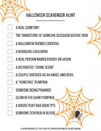 Easy Halloween Scavenger Hunt Clues by Halloween Scavenger Hunt