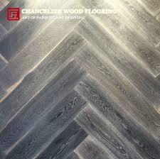 Distressed Oak Herringbone Wood Flooring Meitu 3 Grey Engineered