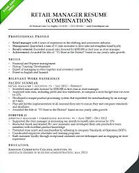 Retail Manager Resumes Fashion Store Resume Sample Assistant Job Samples Free