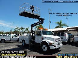 100 Boom Truck INTERNATIONAL DT466 SIGN TRUCK Scissor Lift Utility Service