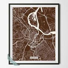 NORWICH ENGLAND STREET MAP PRINT By Voca Prints Modern Street Map Art Poster With 42 Color Choices Perfect For Anyone Who Loves To Travel Or Is