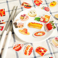 Free Shipping DIY Cute Kawaii Food Crafts And Scrapbooking Sticker For Decoration Photo Album Diary