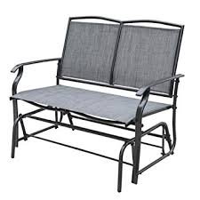 Patio Furniture Loveseat Glider by Amazon Com Sundale Outdoor 2 Person Loveseat Glider Bench Chair