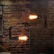 retro loft industrial faucet antique edison wall l light water