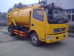 Waste Water Suction Truck , Sewage Vacuum Truck Septic Water Tank ...