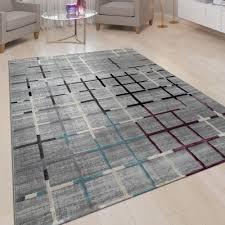 teppich akzente wohnzimmer karo muster 3 d design