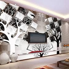 kühlen schwarz weiß baum überprüfen ziegel natrual 3d fototapete mural rollen für tapeten 3d wohnzimmer malerei kinder schlafzimmer
