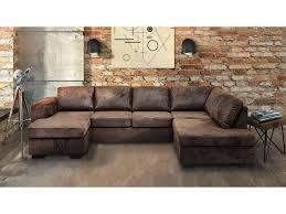 canapé marron canapé d angle gauche panoramique 8 places en tissu mississipi
