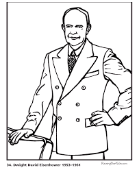 Free Printable President Dwight D Eisenhower Biography And Coloring Picture