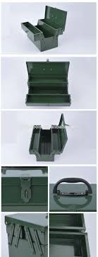Army Green Tool Box,Two Layer Truck Tool Box,Metal Toolbox - Buy ...
