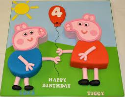 Peppa Pig George Pumpkin Stencil by Peppa Pig And George Pig 2d Shaped Cake Children U0027s Birthday