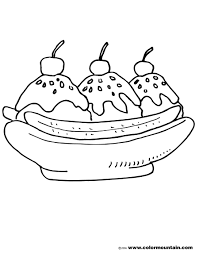 Great Banana Split Coloring Page 78 For Seasonal Colouring Pages With