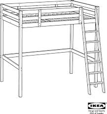 Download IKEA STORƒ LOFT BED FRAME FULL DOUBLE Assembly