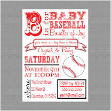 Baseball Baby Shower Invitations Templates Luxury Baseball Baby