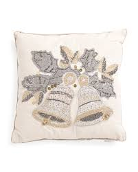 Tj Maxx Christmas Throw Pillows by 20x20 Beaded Bells Pillow Holiday Decor T J Maxx