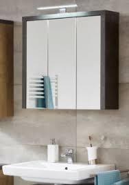 badezimmer spiegelschrank bay in beton grau und eiche riviera badschrank 67 x 71 cm