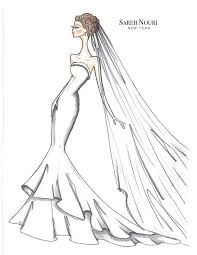 Wedding Dress Designer Sketches From Sketch To Gown