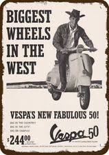 1964 VESPA 50 SCOOTER MOTORCYCLE Vintage Look Replica Metal Sign