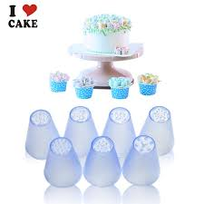 7pcs Lot Russian Tulip Plastic Icing Piping Nozzles Making Flower Mold Pastry Decorating Tips Cake