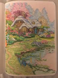 Posh Adult Coloring Book Thomas Kinkade Designs For Inspiration Relaxation Books Must Buy By Marlene Chua On Aug 2016 So Much Fun