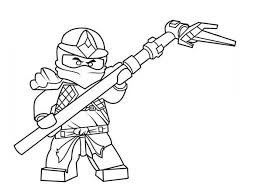 Lego Ninja Go Ready To Fight Save The World Coloring Pages