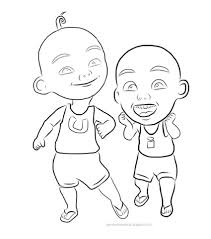 HD Wallpapers Coloring Pages Upin Dan Ipin Dhdde3dtk